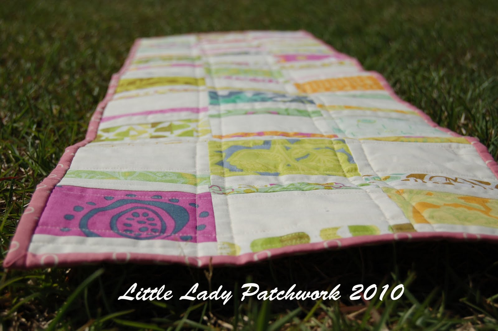 Little lady patchwork april cg gqc finished project for 102 table runners