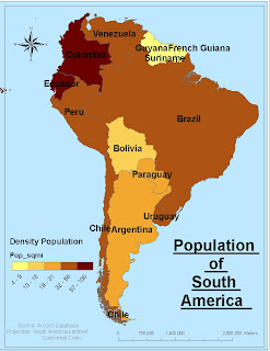 Angela's Blog: Population of South America