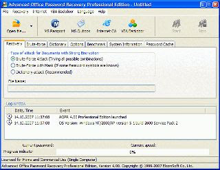 Elcomsoft Advanced Office Password Recovery 5.04