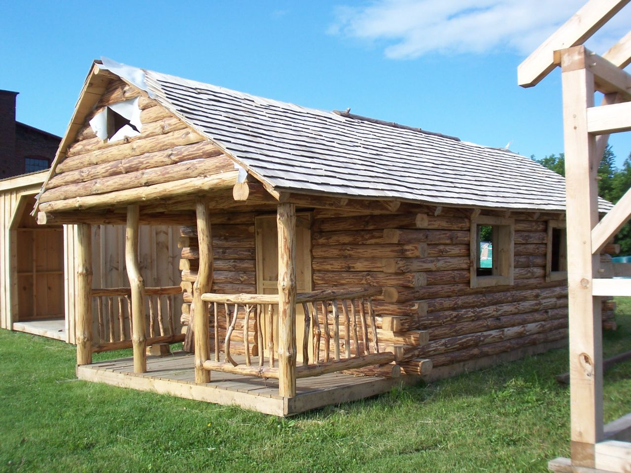 Pre Built Amish Cabins on adirondack modular log cabin