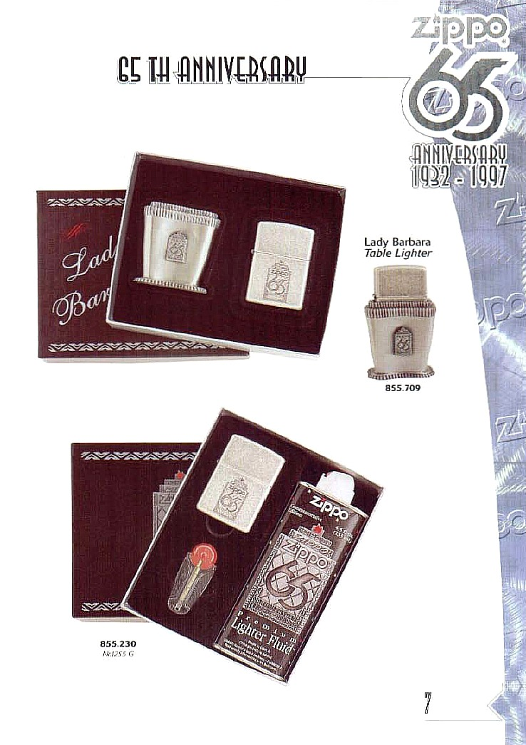 Table lighters collectors' guide: Zippo Lady Barbara ...