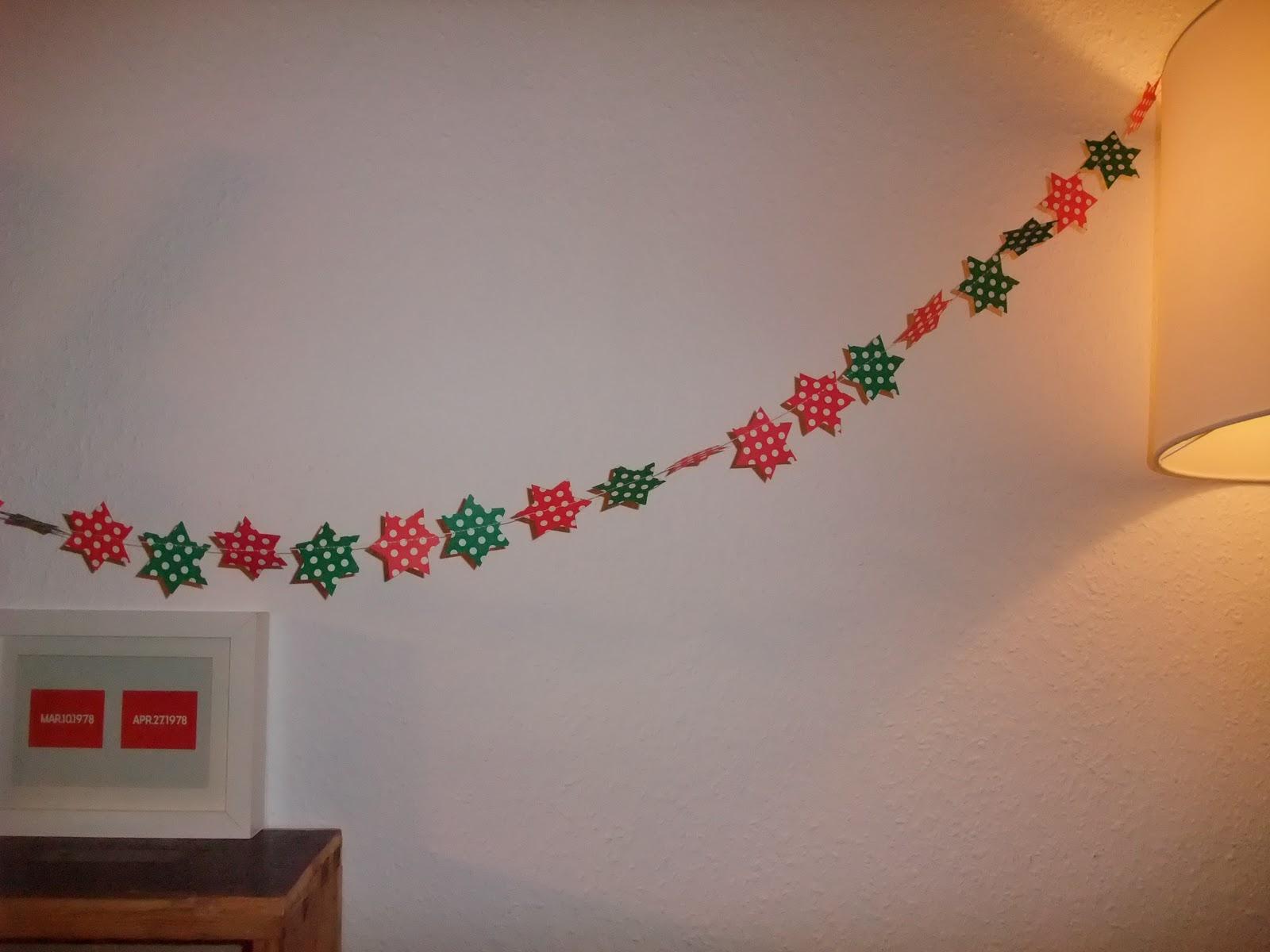Bastelinfekt m i ma - Weihnachtsgirlande basteln ...