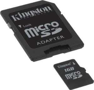 Kingston Micro SDHC Memory Card With Adapter