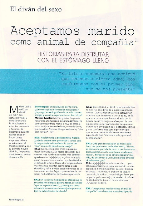 Entrevista Sexologies-Junio 2009