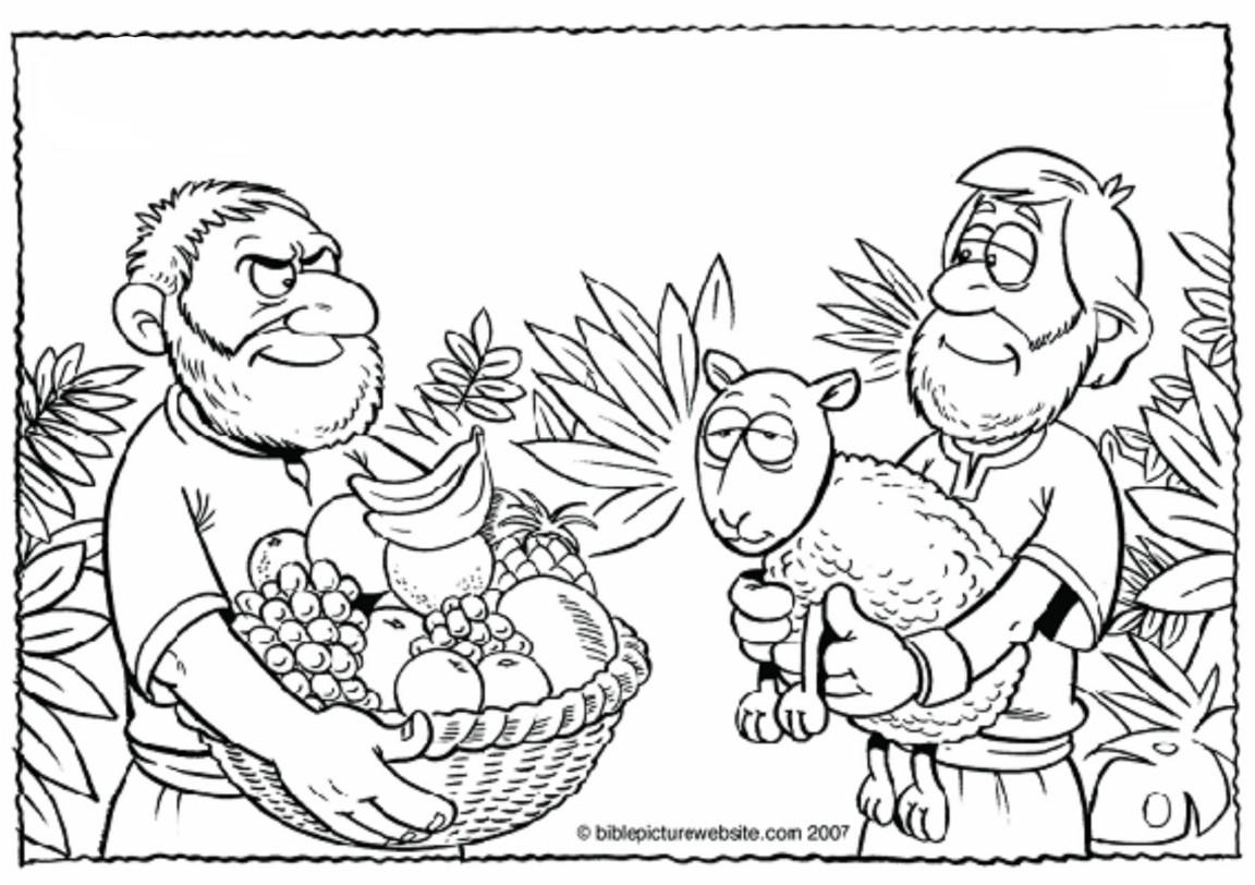 cain and abel coloring pages - photo#33