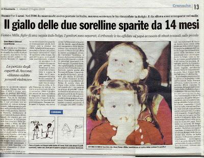 Fiona et Milla: presse italienne