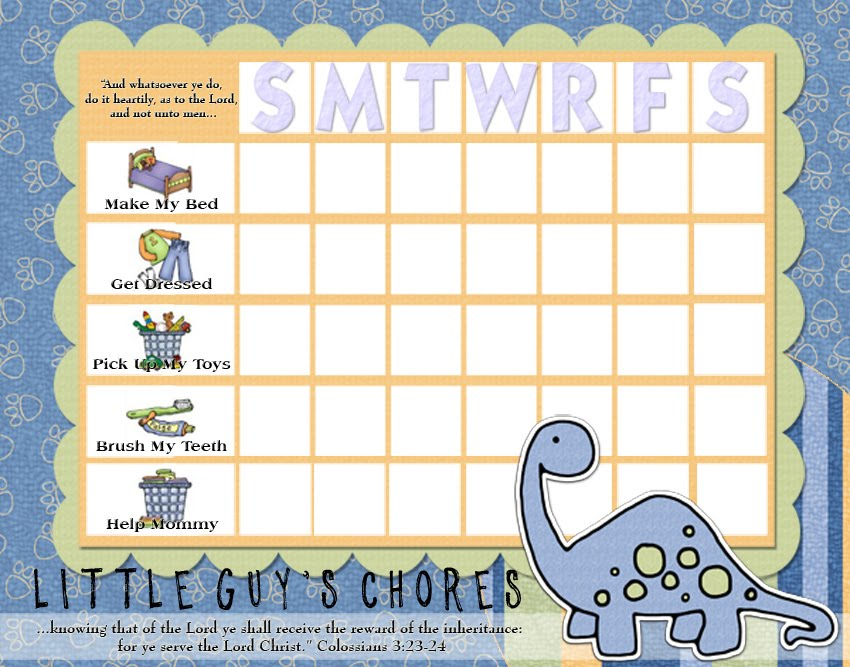 Chore Chart For Young Kids Who Cant Read Yet  Kids Chores