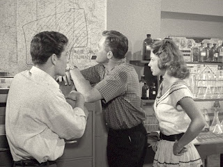 Robert Fuller, John Agar, and Joyce Meadows