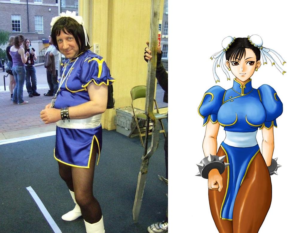 Reunião do clã Fail+cosplay+chun+li