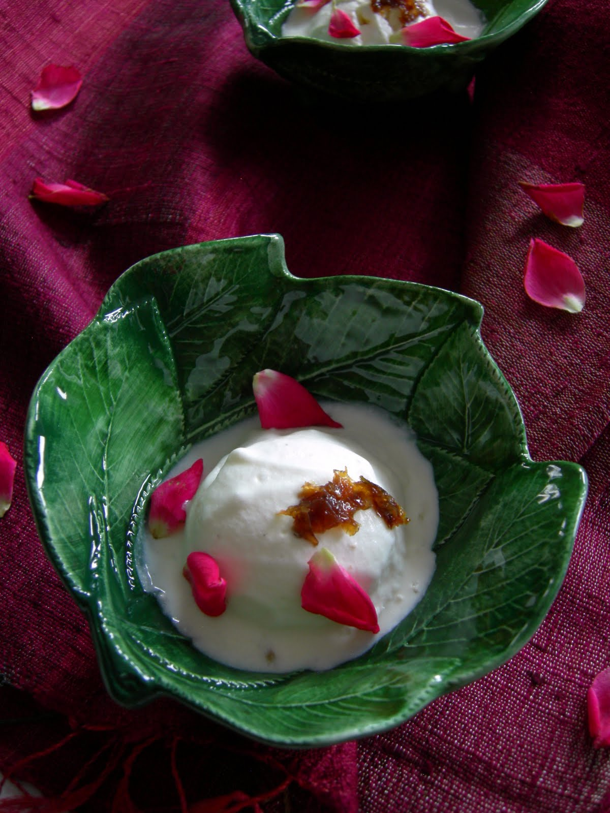 Gulkand Elaichi Ice Cream / Rose-Petal preserve and Cardamom Ice Cream ...