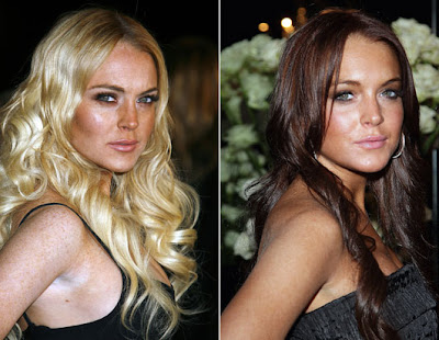lindsay lohan hair colour. Actress Lindsay Lohan said