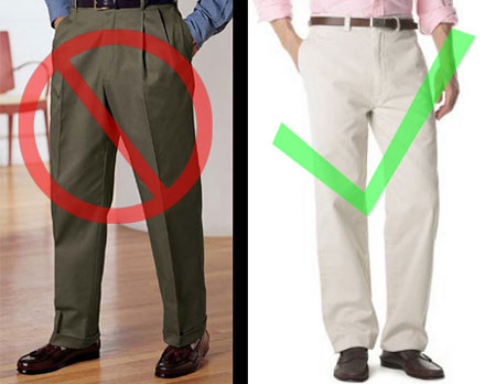 pleated or non pleated pants - Pi Pants