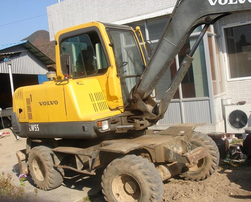 Korea Used Excavator Sale Volvo Ew55b M 225 Y X 250 C Cũ Www