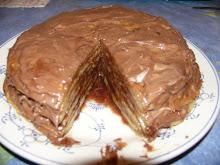 Almás-csokis palacsintatorta