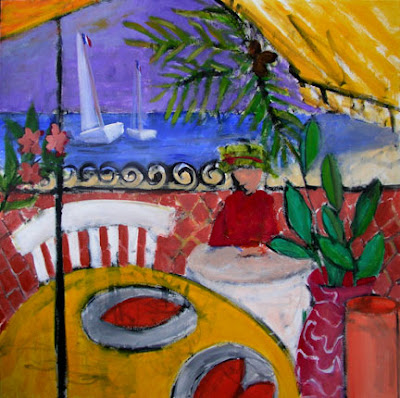 Paintings Images on Painting Each Day  Cote D Azur     The Antibes Paintings