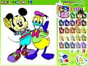 Mickey Mouse Boyama Kitabı Oyunu