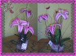centro de mesa de  flores de fomi