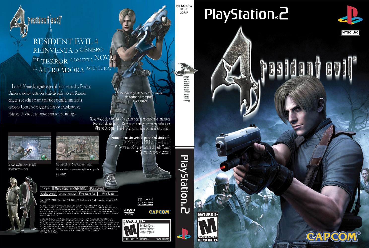 Capa Resident Evil 4 Versão Brasileira PS2