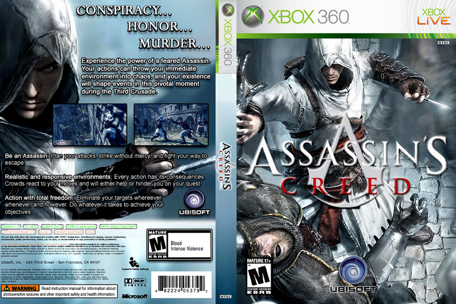 game cover � capa assassins creed xbox 360
