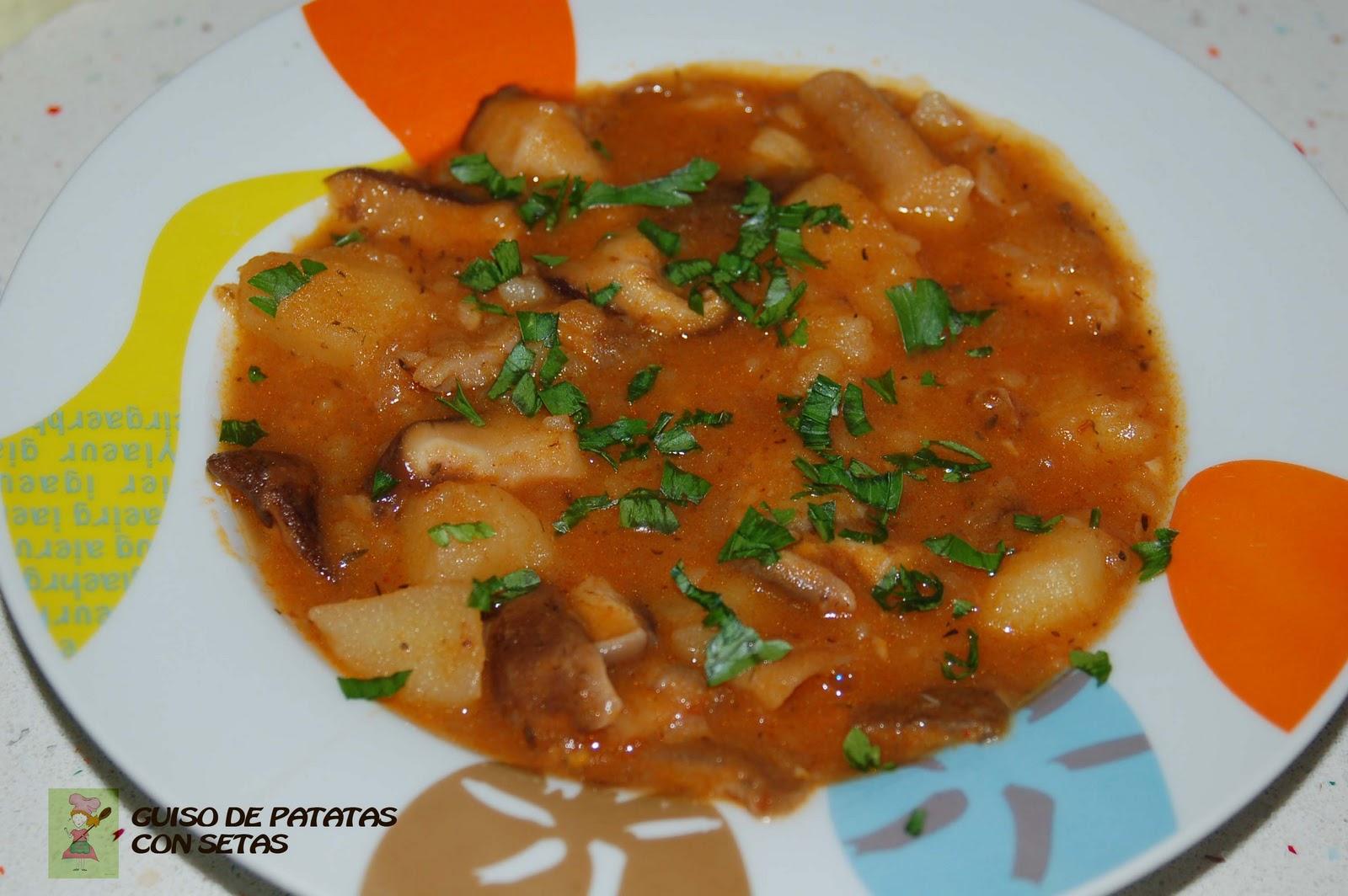 Cocinar sin miedo guiso de patatas con setas for Cocinar repollo con patatas