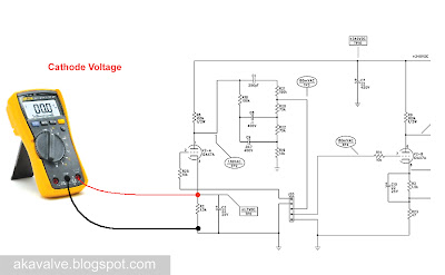 measureing the voltage drop on the cathode resistor