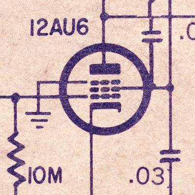 12AU6 tube - pentode input
