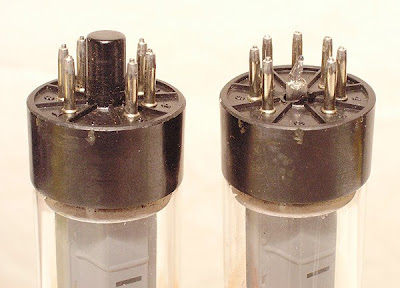 broken aligning key on a vacuum tube base