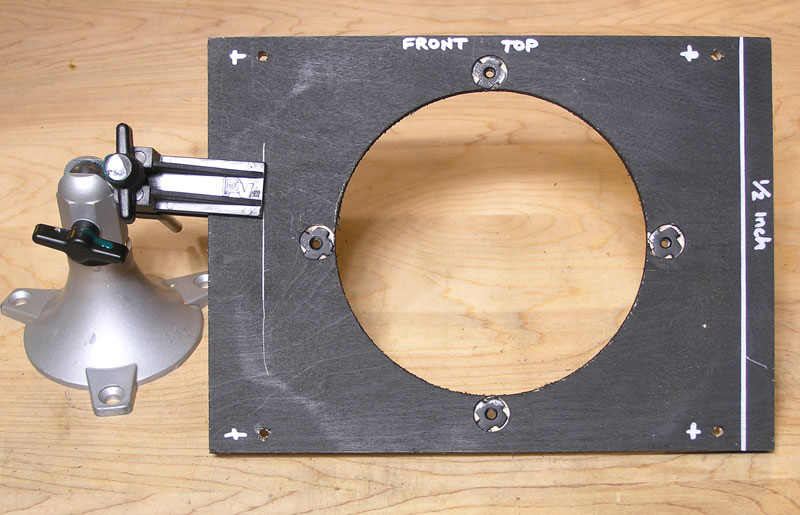 the baffleboard in a Fender Champion 600 marked for cutting