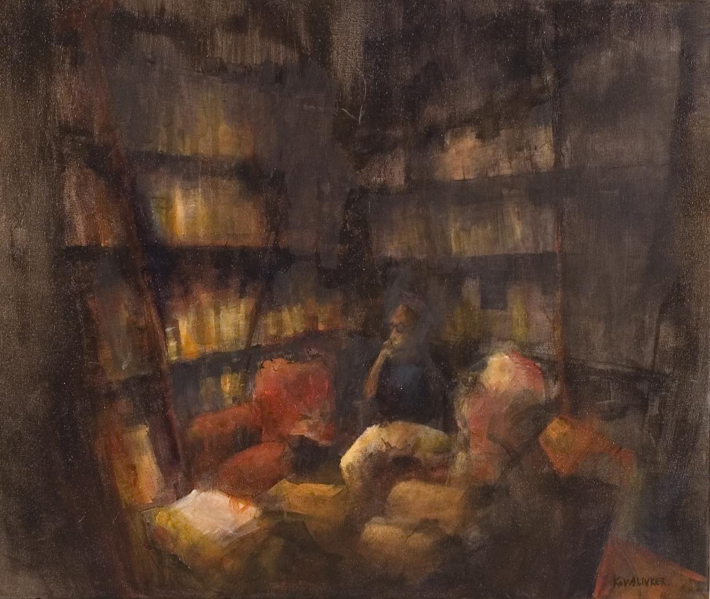 [Biblioteca+++(+acrílico+sobre+tela,++50+x+60+cm)]