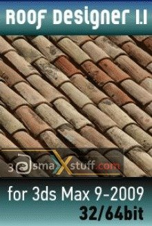 Roof Designer V1.1 for 3ds Max 9-2009 32/64