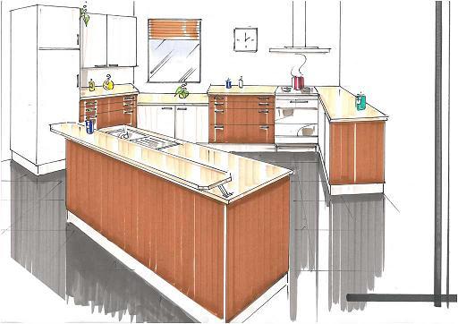 Design d environnement for Maquette cuisine 3d