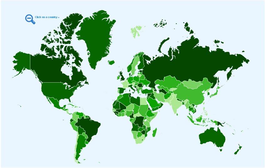 el mapa mundial. mapa mundi. encontramos um