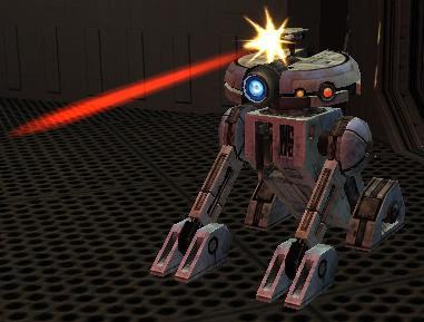 T3 firing his blaster.