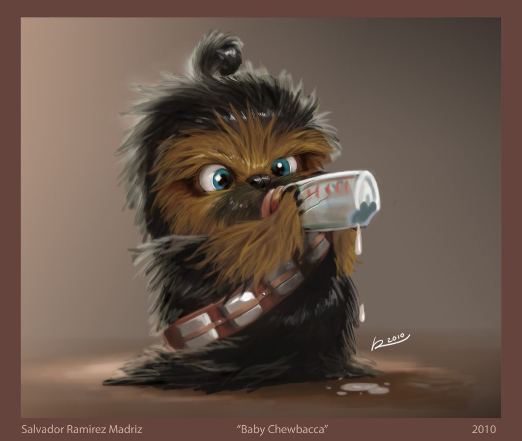 Baby Chewbacca by   ReevolveRBaby Chewbacca Art