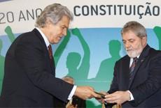 ministro comunicações helio costa e o presidente lula