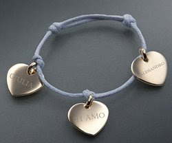Braccialetti personalizzati, braccialetti in cotone cerato, braccialetti con ciondoli