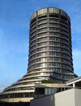 Nemzetközi Fizetések Bankja, Basel, főépület (katt), Bank für Internationalen Zahlungsausgleich