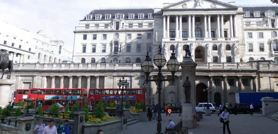 The Bank of England utcakép (járd körbe, katt a képre)