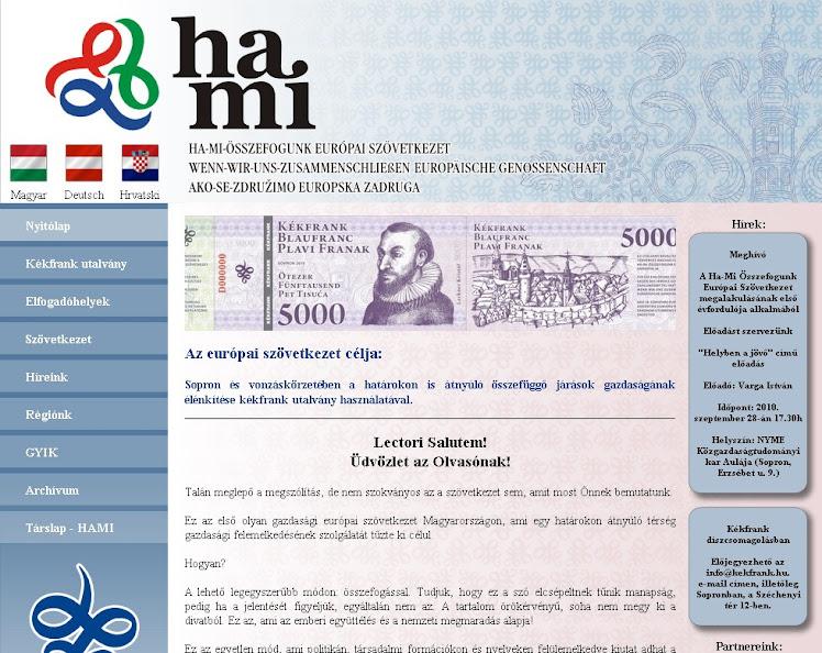 """Kék frank soproni és környéki kiegészítő pénz (""""utalvány""""; katt a képre)"""