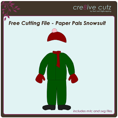 Cre8ive Cutz 3d Svg Cutting Files For Electronic Cutting Machines Free Cutting File Paper Pals Snowsuit
