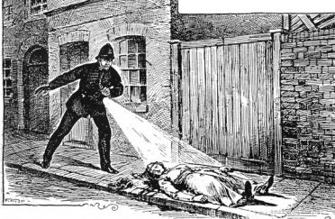 Buck's Row Mary Ann Nichols body is discovered. Image from  http://jack-the-ripper-time.blogspot.co.uk/2009/09/first-victim-of-jack-ripper-polly.html