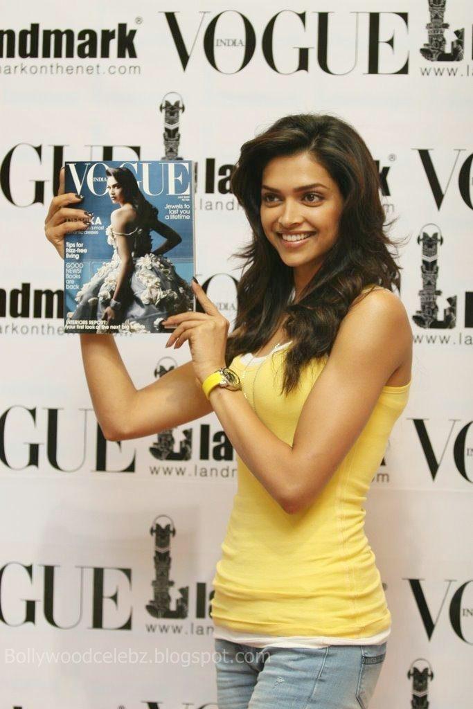Deepika Padukone 20090814 010 - Deepika Padukone unveils latest issue of Vogue