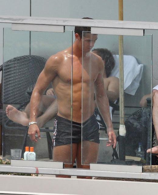 Cristiano Ronaldo on the Beach