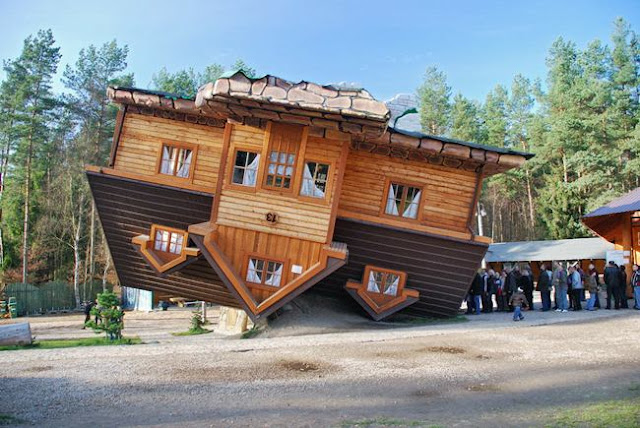 Another upside-down house in Shimbarke, Poland