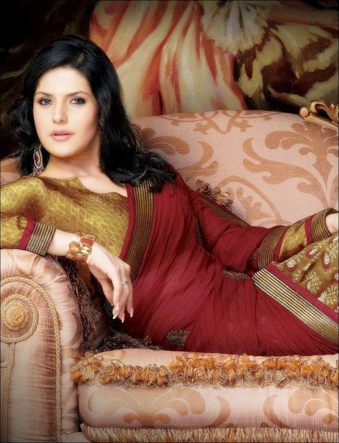 Zarine+Khan+Saree+Photoshoot+ +001 Karikalan Movie Actress Zarine Khan in Saree