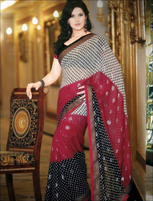 Zarine+Khan+Saree+Photoshoot+ +002 Karikalan Movie Actress Zarine Khan in Saree