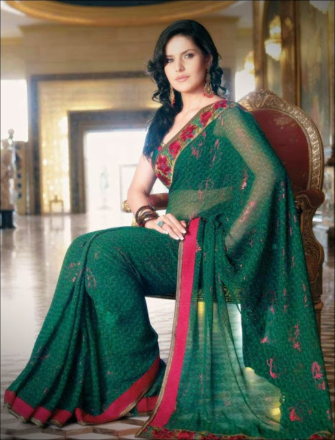 Zarine+Khan+Saree+Photoshoot+ +007 Karikalan Movie Actress Zarine Khan in Saree