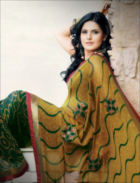 Zarine+Khan+Saree+Photoshoot+ +008 Karikalan Movie Actress Zarine Khan in Saree