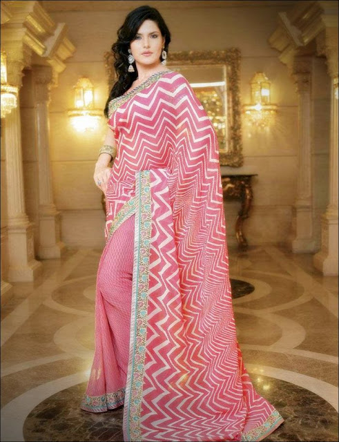 Zarine+Khan+Saree+Photoshoot+ +011 Karikalan Movie Actress Zarine Khan in Saree