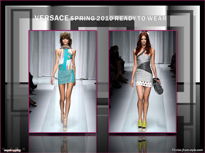 Site Blogspot   Shoulder Dress on Versace Spring 2010 Ready To Wear One Shoulder Mini Dress